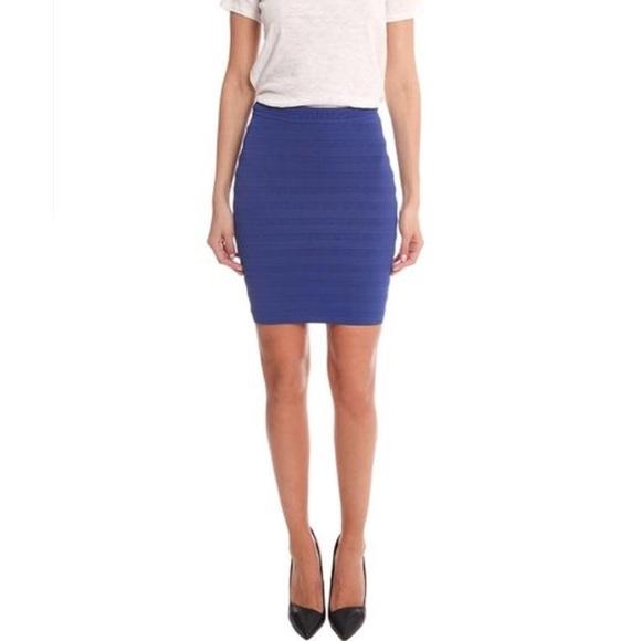 8e5497ee8 Yigal Azrouel Skirts   Nwot Techno Bandage Skirt Blue   Poshmark